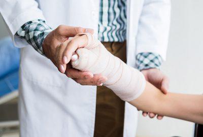 diagnoza zlamania nadgarstka